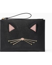 Kate Spade - Medium Cats Meow - Bella Leather Pouch - Lyst