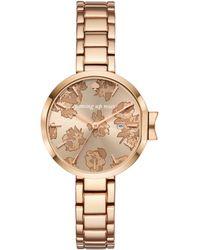 Kate Spade - Park Row Rose Gold-tone Bracelet Watch - Lyst