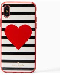 Kate Spade | Heart Stripe Iphone 8 Case | Lyst