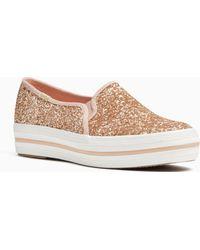 Kate Spade - Keds X New York Triple Decker Glitter Sneakers - Lyst