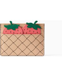 Kate Spade - Picnic Perfect Strawberry Card Holder - Lyst