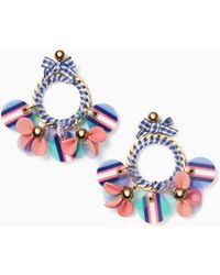 Kate Spade - Set Sail Statement Hoop Earrings - Lyst