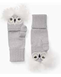 Kate Spade - Who Me Pop Top Mittens - Lyst