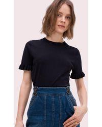 Kate Spade - Ruffle Short Sleeve Sweater - Lyst