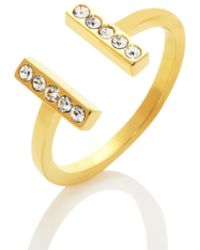 Kate Spade - Dainty Sparklers Bar Ring - Lyst
