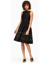 Kate Spade - Lace Panel Fit And Flare Dress - Lyst