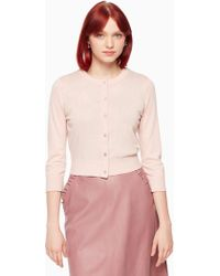 Kate Spade | Jewel Button Cropped Cardigan | Lyst