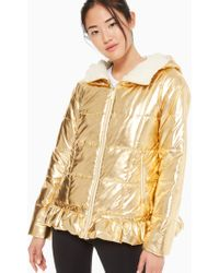 Kate Spade - Metallic Puffer Jacket - Lyst
