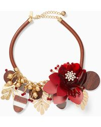 Kate Spade - Slice Of Stonestatement Necklace - Lyst