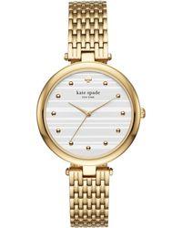 Kate Spade - Varick Gold Bracelet Watch - Lyst