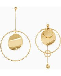 Kate Spade - Gold Standard Asymmetrical Earrings - Lyst