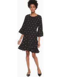 a1808f9f4740 Kate Spade Poppy Crochet Sweater Dress in Black - Lyst