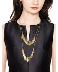 Kate Spade - Fancy Flock Double Row Necklace - Lyst