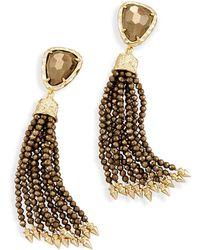 Kendra Scott - Blossom Statement Earrings In Pyrite - Lyst