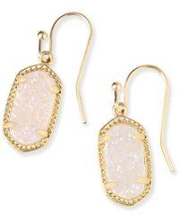 Kendra Scott - Lee Gold Earrings In Iridescent Drusy - Lyst