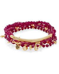 Kendra Scott - Supak Gold Beaded Bracelet Set - Lyst