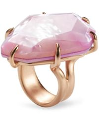 Kendra Scott - Megan Rose Gold Cocktail Ring In Lilac Mother Of Pearl - Lyst