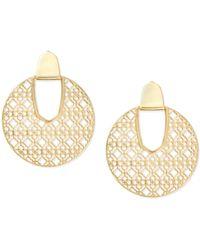 Kendra Scott - Diane Gold Statement Earrings - Lyst