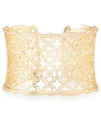Kendra Scott - Candice Gold Cuff Bracelet In Gold Filigree - Lyst