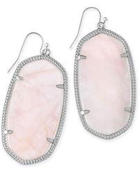 Kendra Scott - Danielle Silver Statement Earrings - Lyst