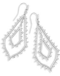Kendra Scott - Alice Statement Earrings In Silver - Lyst