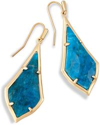 Kendra Scott - Olivia Drop Earrings In Aqua Apatite - Lyst