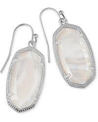 Kendra Scott - Dani Silver Drop Earrings - Lyst