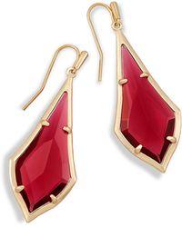Kendra Scott - Olivia Drop Earrings In Berry Glass - Lyst