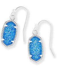 Kendra Scott - Lee Silver Drop Earrings - Lyst