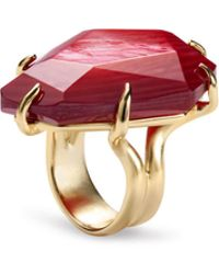 Kendra Scott - Megan Gold Cocktail Ring In Red Mother Of Pearl - Lyst