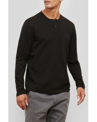 Kenneth Cole Reaction - Long-sleeve Honeycomb Henley - Lyst