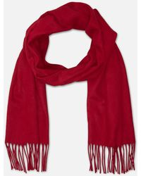 Kenneth Cole - Solid Fringed Scarf In Cashmink - Lyst