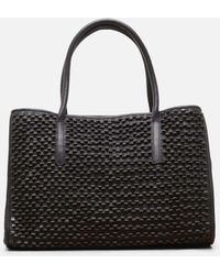 Kenneth Cole - Weave Leather Satchel - Lyst