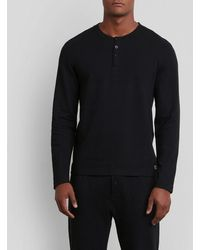 Kenneth Cole Reaction - Long-sleeve Waffle Knit Pajama Top - Lyst