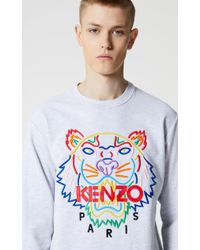 b540679f61b KENZO - 'high Summer Capsule Collection' Tiger Sweatshirt Pale Gray - Lyst