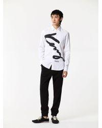 KENZO - Men's Painted Logo Shirt - Lyst