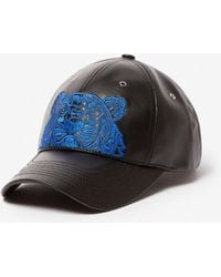 KENZO - Tiger Leather Cap - Lyst