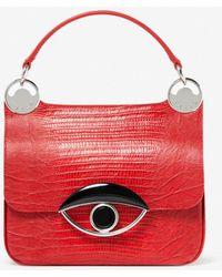 65c42df692c4 IIIBeCa by Joy Gryson Studded Duane Street Messenger Bag Sky in Black - Lyst