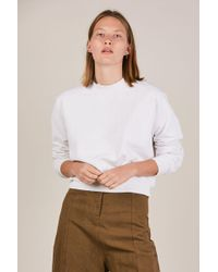 Cotton Citizen - Milan Cropped Crew Sweatshirt - Lyst