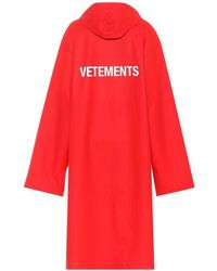 Vetements - Hooded Long Logo Raincoat - Lyst