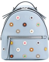 Fendi - Mini Backpack With Flowers - Lyst