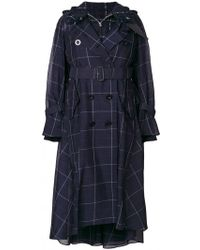 Sacai - Boucle Layered Trench - Lyst
