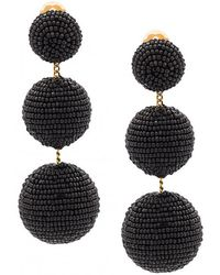 Rebecca de Ravenel - Three Drop Beaded Earring - Lyst