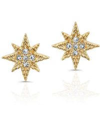Anne Sisteron Diamond North Star Stud Earrings - Metallic