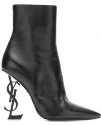 Saint Laurent - 110mm Opyum Leather Ankle Boots - Lyst