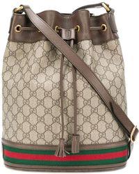 Kirna Zabete Gucci Ophidia Logo Bucket Bag - Brown