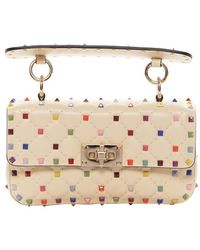 Valentino - Small Multicolour Rockstud Shoulder Bag - Lyst