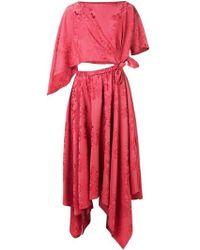 Rosie Assoulin - Jacquard-fiore Triangle Dress - Lyst