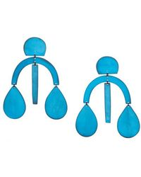 Annie Costello Brown - Blue Oxide Arc Drop Earrings - Lyst