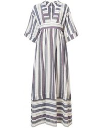 Three Graces London - Ferrers Striped Cotton-blend Maxi Dress - Lyst